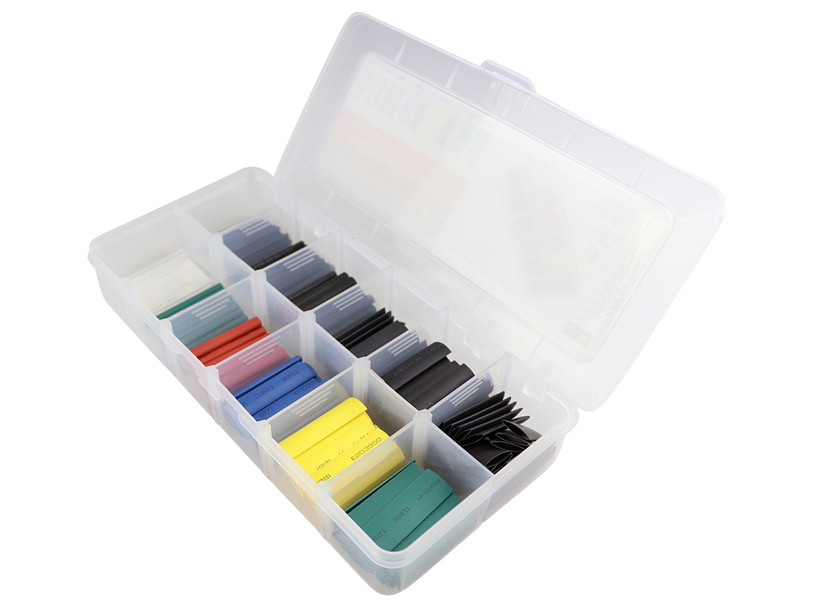CT2409 180PC Colour Coded Heat Shrink Tubing Sleeves In Storage Box
