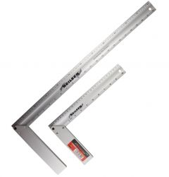2 Neilsen Aluminium Measure Tri Try Set Squares Right Angle - 12 and 24 inch