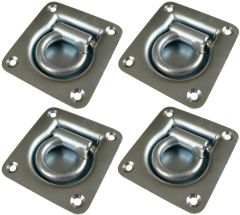 4 Unstamped Cargo Lashing Tie Down Anchor Brackets with Eye for Securing Loads
