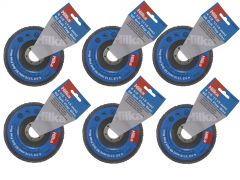 Six Hilka Flap Disc with x6 in Text