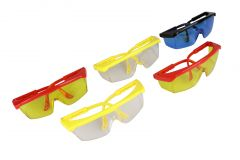 5 Pairs Hilka Safety Glasses Goggles Assorted Colours 77998812