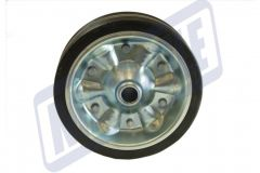 Spare Steel Solid Rubber Jockey Wheel 200mm Fits MP9741 MP9743 - MP97435