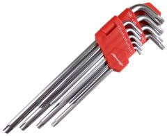 Neilsen 9pce Long Offset Star Torx Key Set CT1421
