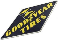 Goodyear Tyres Tires Logo - Cast Iron Sign Plaque
