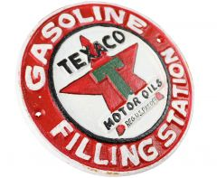 Texaco Motor Oils Gasoline Filling Station - Cast Iron Sign Plaque