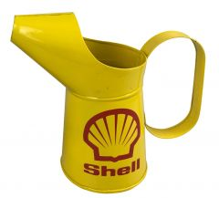 22.5cm Medium Jug Shell Fuel Oil Tin Metal Decorative Jug - 1Litre