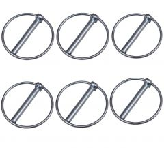 6 Linch Pin Locking Ring - 9mm x 55mm Lynch Pins Tractors Trailer Diggers