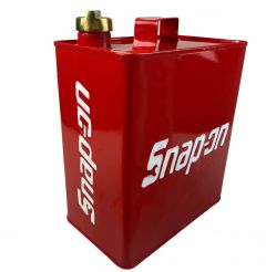 Snap On Design Red & White Vintage Decorative Petrol Fuel Jerry Can