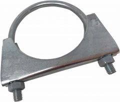Universal U Bolt Exhaust Clamp - Size: 75mm with M8 Nuts BZP