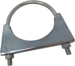 Universal U Bolt Exhaust Clamp - Size: 83mm with M8 Nuts BZP