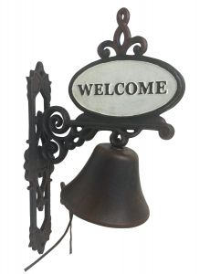 Garden Hanging Door Bell with Welcome - Decorative Vintage Cast Iron