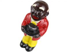 Old Uncle Moses African Americana Man - Cast Iron Money Box Coin Bank