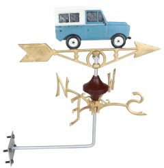 Land Rover Defender Wall Mount - Cast Iron Weathervane