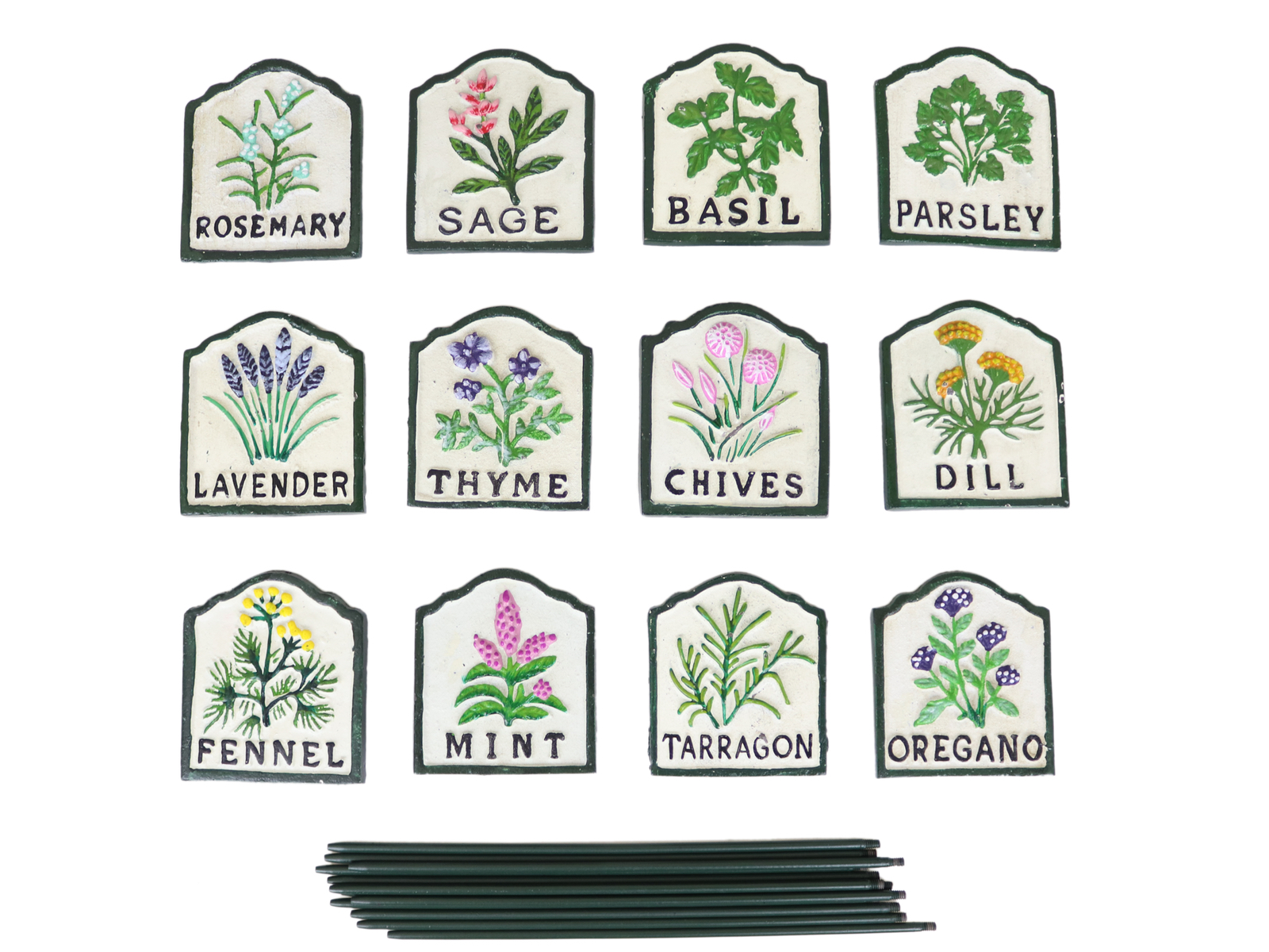 GARDEN ALLOTMENT HOME GIFT CHIVES GREAT CAST IRON PAINTED HERB STAKE SIGN