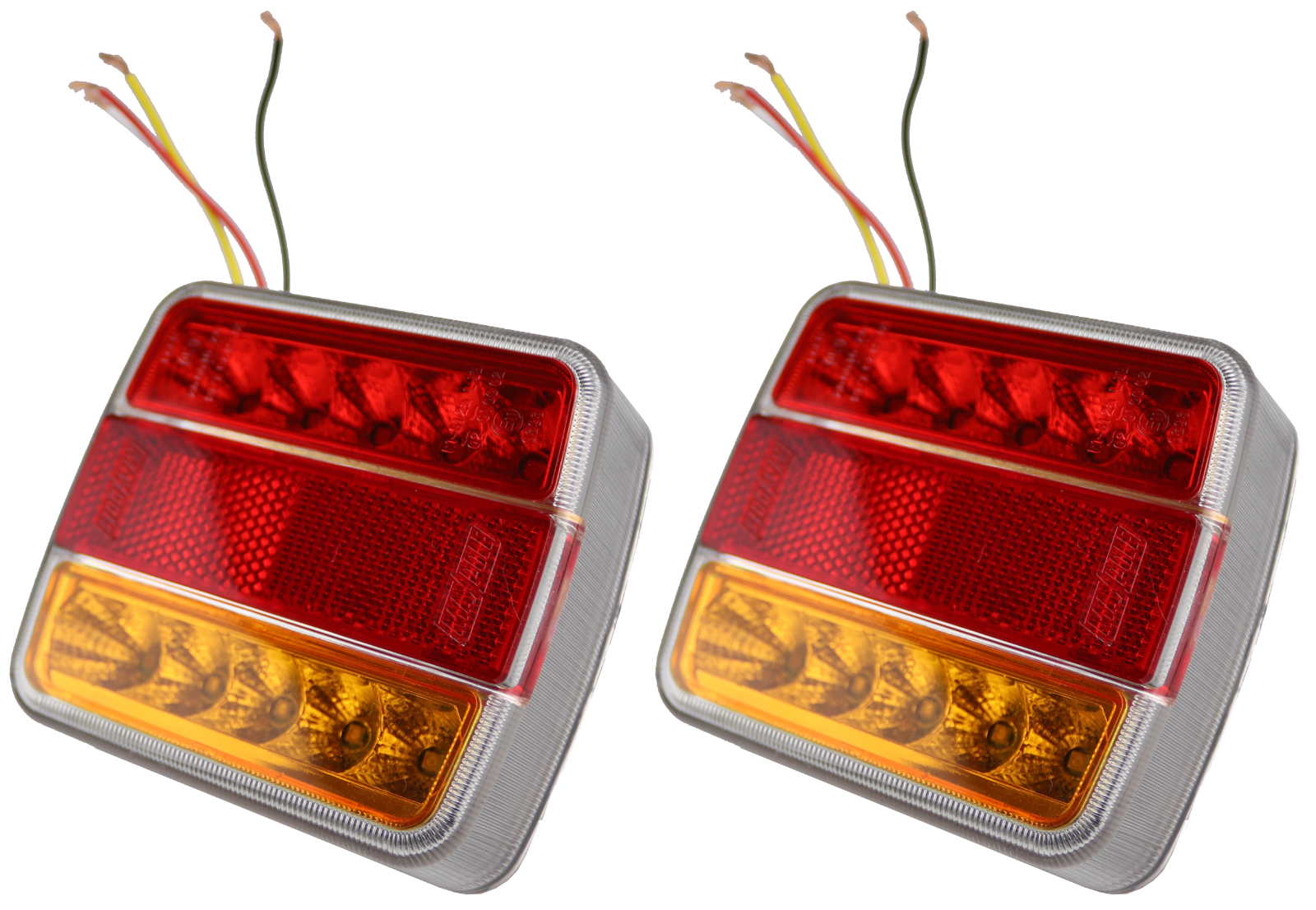 12V SQUARE REAR COMBINATION TRAILER BOARD TAIL LAMP LIGHT WITH NUMBER PLATE LAMP